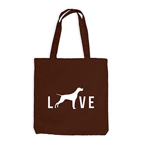 Jutebeutel - Love Dog Live Hunde Doggy Chocolate