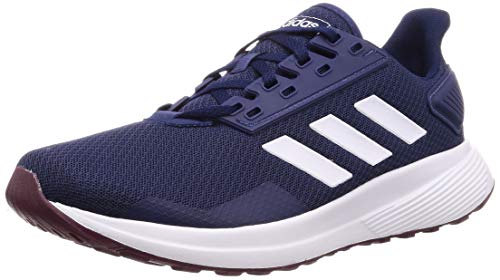 adidas Duramo 9, Scarpe da Running Uomo, Blu (Dark Blue/Ftwr White/Maroon Dark Blue/Ftwr White/Maroon), 45 1/3 EU