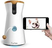 Furbo - VIDEOCAMERA per Cani: Telecamera HD WiFi per Animali con Audio Bidirezionale, Visione Notturna, Alerta Latrato e...