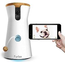 Furbo - CÁMARA para Perros: Telecámara HD WiFi para Mascotas con Audio Bidireccional, Visión Nocturna, Alerta de Ladrido y Lanzamiento de Golosinas