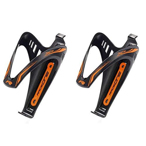 Coppia portaborraccia x3 orange fluo matt porta borraccia per bicicletta ideale per bici race/mtb / gravel/trekking bike. finitura opaca. colore nero/arancione fluo. 100% made in italy (ro_2x3_ofl)