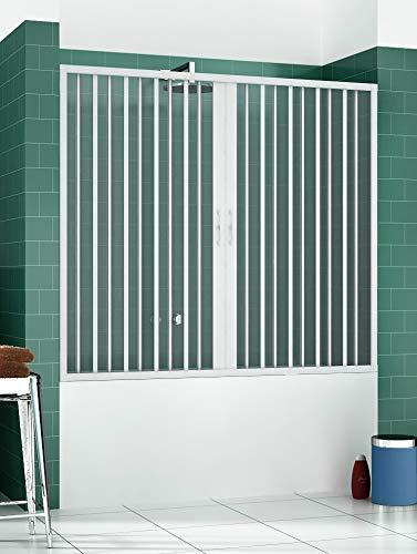 PVC Badewannefaltwand 170 CM mit zentraler Öffnung Mod. Nina