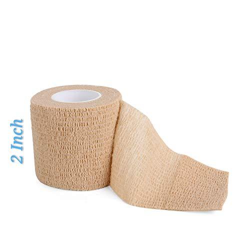 Rotoli di bendaggio autoadesivi fasciatura adesiva con bendaggio adesivo Adesivo con fasciatura adesiva impermeabile Bendaggio medico Fasciatura 2 pacchi 5cm x 10m