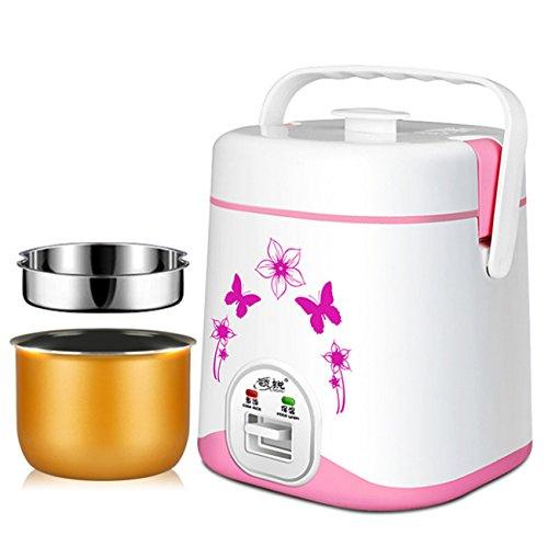 ZXMXY Reiskocher Multifunktions-Elektro-Slow Cooker Küche perfektioniert automatische Antihaft-Herd (Liner wünschenswert und nicht wünschenswert, 1.2L, 220W) (Farbe : Rosa, Design : Liner desirable)