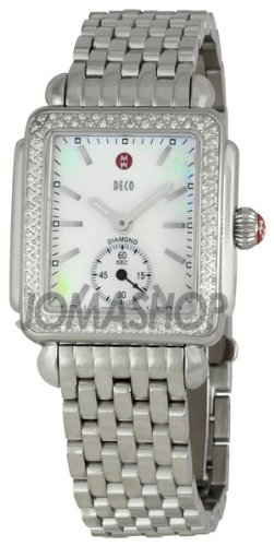 Michele Michele Decorative 16Mother of Pearl Dial Steel Ladies Watch MWW06V000001
