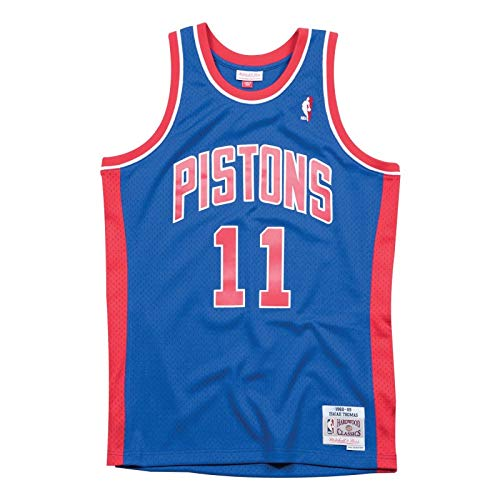 e958b3bab50 Mitchell   Ness – Detroit Pistons Isiah Thomas – Swingman Jersey Camiseta –  Hardwood Classic –