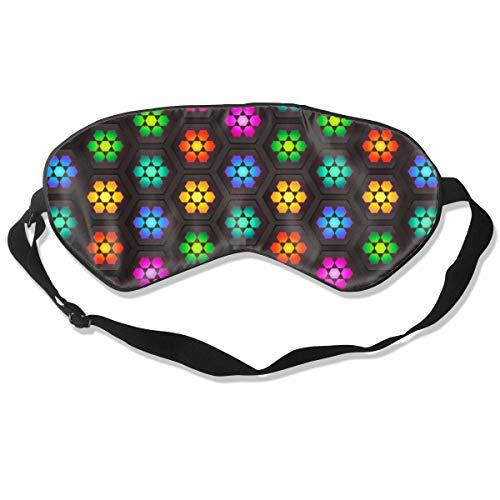 Wrution Kaleidoskop-Mosaik-Muster, Bunte Tapete, individuelle Schlafmaske, Augenmaske, verstellbare Träger, super weich für Damen und Herren -