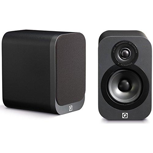 Q Acoustics QA3010 Lautsprecher für MP3 und iPod Schwarz Leder