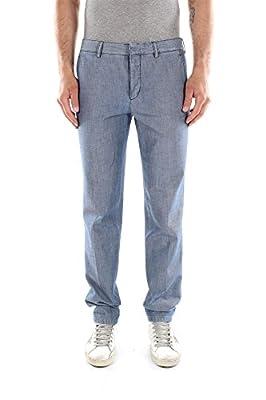 SPD91DENIM Prada Pants Men Cotton Blue