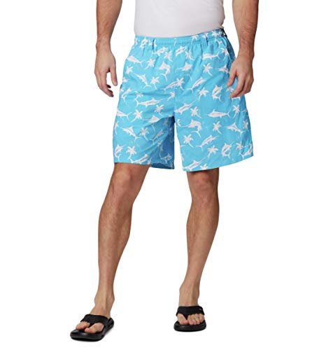 Columbia Super Backcast Wassershorts, Herren, Super BackcastTM Water Short, Riptide Watery Fish Print, x-Largex6 Ready Made Short