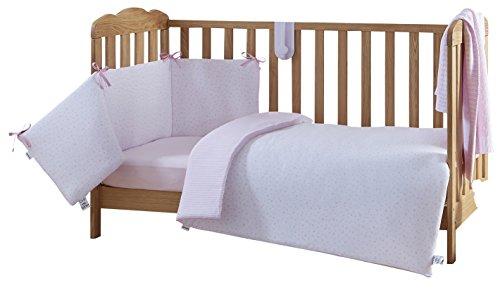 Clair de lune u2013 lenzuola per culla letto set rosa stelle e strisce