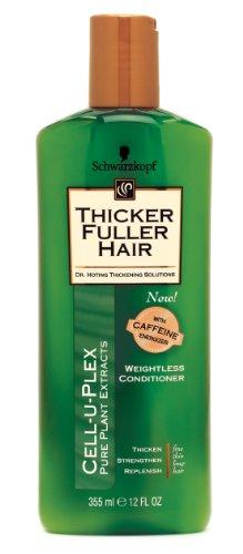Thicker Fuller Après-shampooing épaississant avec Cell-U-Plex - Formule ultra légère avancée pour cheveux fins, clairsemés, sans vie - 355 ml