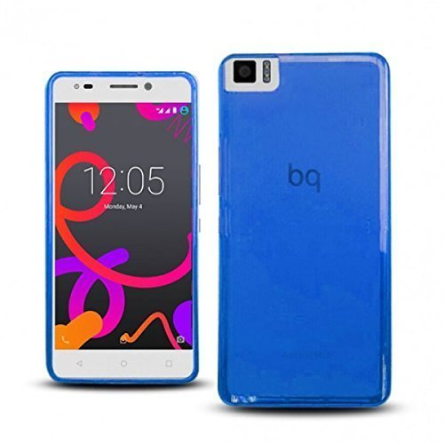 TBOC® Blau Gel TPU Hülle für bq Aquaris M5.5 (5.5 Zoll) Ultradünn Flexibel Silikonhülle