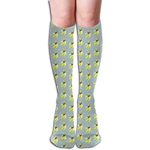 Preisvergleich Produktbild 50cm Banana Cockatiel Socken strümpfes Athletic Running Long Socks Novelty Knee High Sock