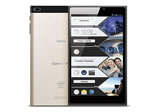 """Vexia Zipper 8-Tablet Tab Da 8 """", Intel Atom Z2580, 1 GB Di RAM, 16 GB, Android 4,2.2 Jelly Bean, Colore: Nero"""