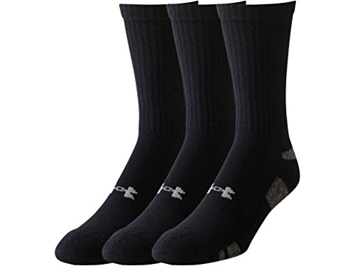 Under Armour Jungen Sportswear Socken und Strümpfe Heatgear 3PK Crew Youth, Black, L, 1250421 (Socken Armour Under Kinder)
