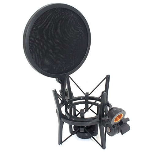 Zramo SH101shock mount con filtro antipop integrato per grande diametro microfono a condensatore per MXL 770per cad GXL2200e AKG P420microfoni filtro antipop per Blue Yeti mic