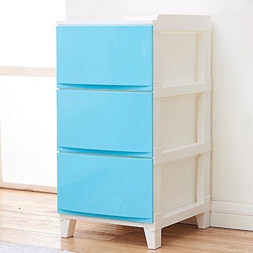 Flashing-DIY Armoire de rangement de tiroir Armoires de salle de bains Casiers Armoire de lit en plastique, matériel en PP Mini armoire de lit(33.5*42*69cm) ( Couleur : Bleu , taille : 33.5*42*69cm )