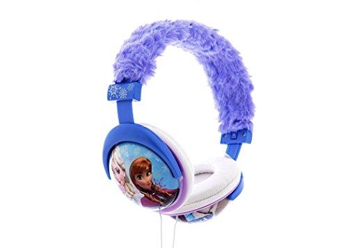 Sakar 35127 Frozen Kopfhörer mit Plüsch Überzug blau