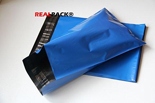 Realpackâ ® 100x Bleu Plastique Poly Sacs d'expédition enveloppes 30,5x 40,6cm Taille 305mm x 406mm à lèvres + (40mm) DVD postale affranchissement gratuit Livraison Rapide