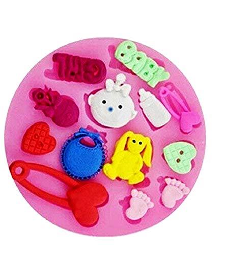 Inception Pro Infinite Stampo in Silicone per Uso Artigianale di Accessori Bambina Baby Girl - Spilla - Cuore - Bottone - Piedi