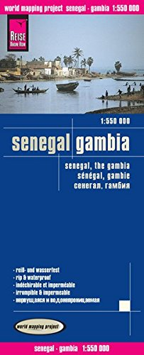 Senegal y Gambia, mapa de carreteras impermeable. Escala 1:550.000. Reise Know-How. (World Mapping Project) por VV.AA.