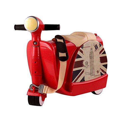Valigie Per Bambini Ride-On Suitcase Adatto Per Bambini Di 3 Anni,Red