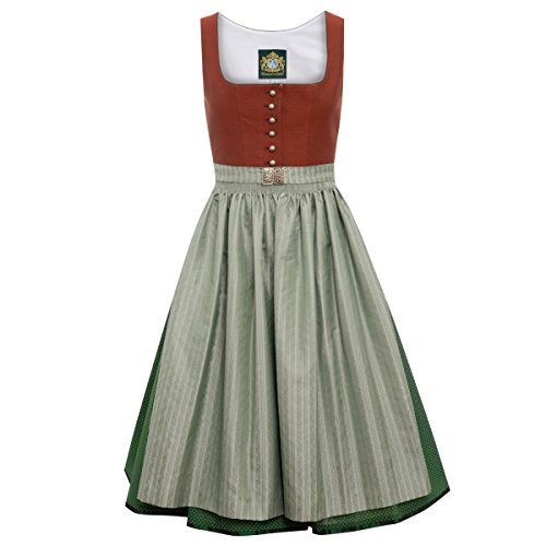 Hammerschmid Damen Trachten-Mode Midi Dirndl Pillersee in Rot traditionell