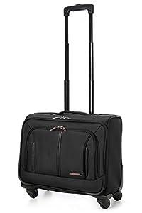 "Aerolite 18"" 4 Wheeled Laptop Bag Executive Business Bag Mobile Office Cabin Luggage Suitcase – Approved for Easyjet, BA & Jet2, Black"