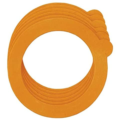 A set of 6 sealing rings for clip top jars