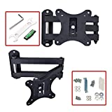 TAHA® Tilt & Swivel TV Wall Mount Bracket, Fits for 10 13 15 17 19 20 21 22 23 24 25 26 27 29 30 Inch LED LCD Plasma Screen Monitor Max Load Capacity 45 lbs VESA 50x50 75x75 & 100x100 mm