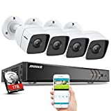 ANNKE 8CH 8MP Ultra HD Video Überwachungssystem 1TB Festplatte 8 Kanal 5.0MP DVR Recorder mit 5Megapixel 2560 * 1944 Outdoor Bullet Überwachungskamera Set IR Nachtsicht Bewegungserkennung