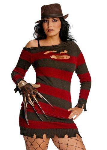 Nightmare on Elm Street Miss Freddy Krueger Damen Kostüm Größe - Miss Krueger Für Erwachsene Damen Kostüm
