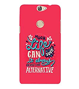 PrintVisa Designer Back Case Cover for Coolpad Max (Quote Love Heart Messages Crazy Express Sorry )