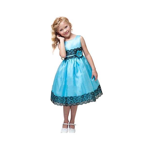 Yilaku Vestido Vintage Estampado de Niñas Años para Fiesta Cóctel Vestido Algodón de Verano sin Mangas 1