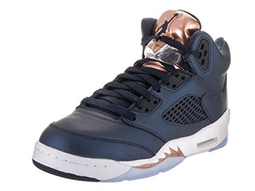 Nike Air Jordan 5 Retro Bg, espadrilles de basket-ball homme Noir
