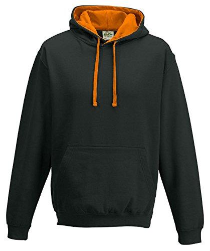 Just cappuccio Jet Black / arancione