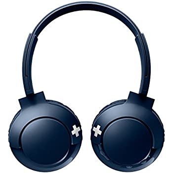 Philips SHB3075BL/00 Wireless On-Ear Headphones with Mic (Blue)