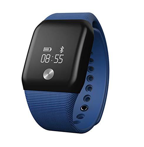 HHRONG Intelligentes Armband, wasserdichtes Armband zur Überwachung des Schwimmschlafes, kompatibel mit Ios/Android-Royalblue