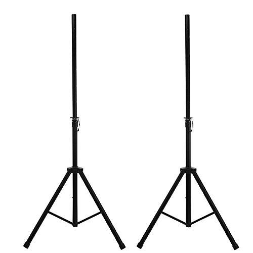 2x McGrey SPS-1 Boxenstativ Stahl schwarz (Boxenstativ aus Stahl, stabile, extra breite Dreibein-Konstruktion, ausziehbar von ca. 130-193 cm, Belastbarkeit: max. 50 kg, Gewicht: 3,3 kg)