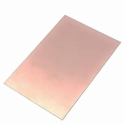 Single Side Copper Clad Laminate Circuit Board 15 x 10 cm (Glass Epoxy FR4 PCB) (2 Pieces)
