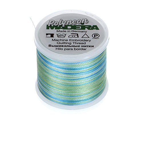 MADEIRA 9845-- 16022-lagig Polyneon Polyester Stickgarn, 40wt/135D 440YD, Bunte Amazone -
