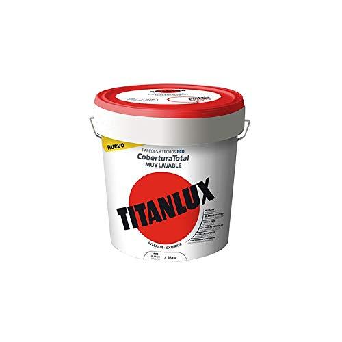 Pintura Plástica Blanca Titanlux Cobertura Total - 4 L