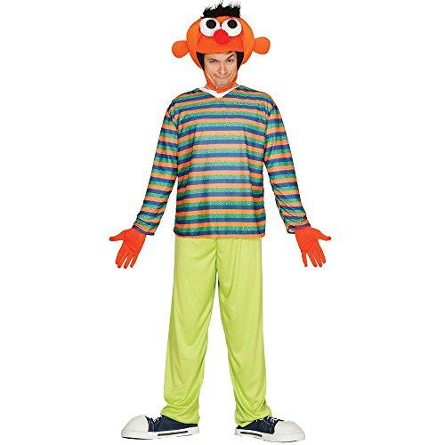 Erni Pijama Orange Mann Sesam Herrenkostüm (Bert Und Ernie Kostüm)