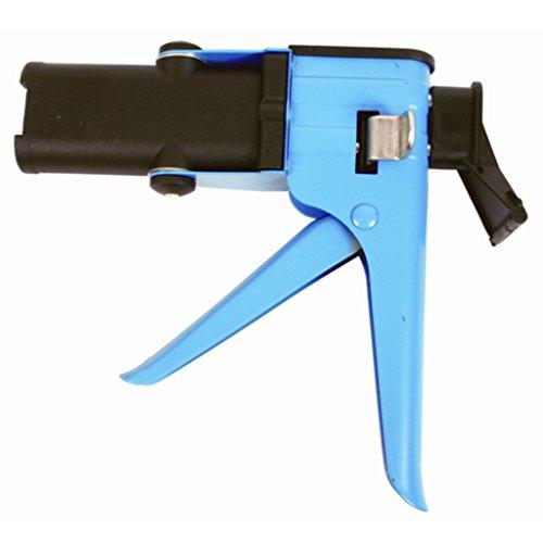 Förch Mini Doppelkatuschenpistole metallausführung für 2K Kartuschen bis 50ml / 60g Kartuschen für Kunststoffkleber, Metallkleber, 2K Kleber
