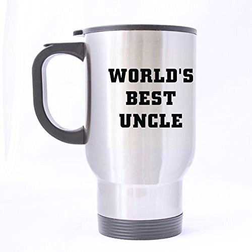 XOX-T Custom World's Best Uncle Travel Mug (Silver) color-4