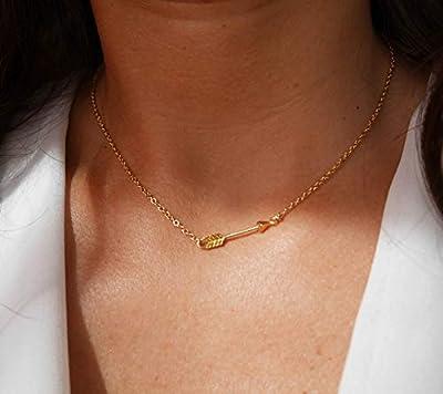 Collier flèche plaqué or - bijoux flèche cupidon amour - chaîne doré - pendentif flèche - bijoux boho - collier fin empilable - mariage