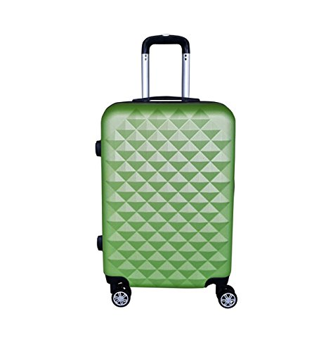 Reisekoffer Hartschale QTC Kairo 2 Case Trolley M / 55cm / Handgepäck Reise Koffer Trolly (apfelgrün)