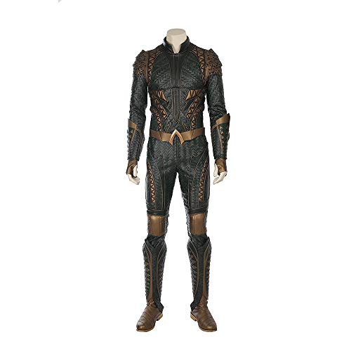 Kostüm Superhelden Aquaman - QWEASZER Justice League Aquaman Body Overalls Arthur Curry Superheld Cosplay Kostüm Halloween Film Kostümfest Requisiten,Justice League Aquaman-XXL