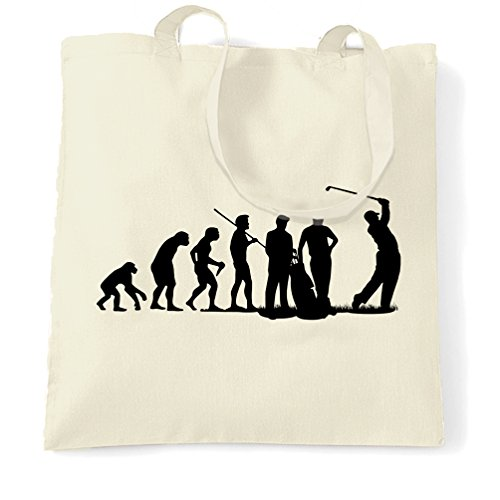 evolution-of-golf-club-course-iron-wood-shopping-carrier-tote-bag